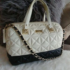 Kate Spade Quilted Leather Domed 2tone Satchel